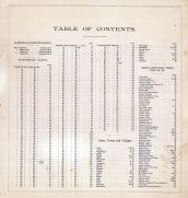 Table of Contents 1, Tulare County 1892